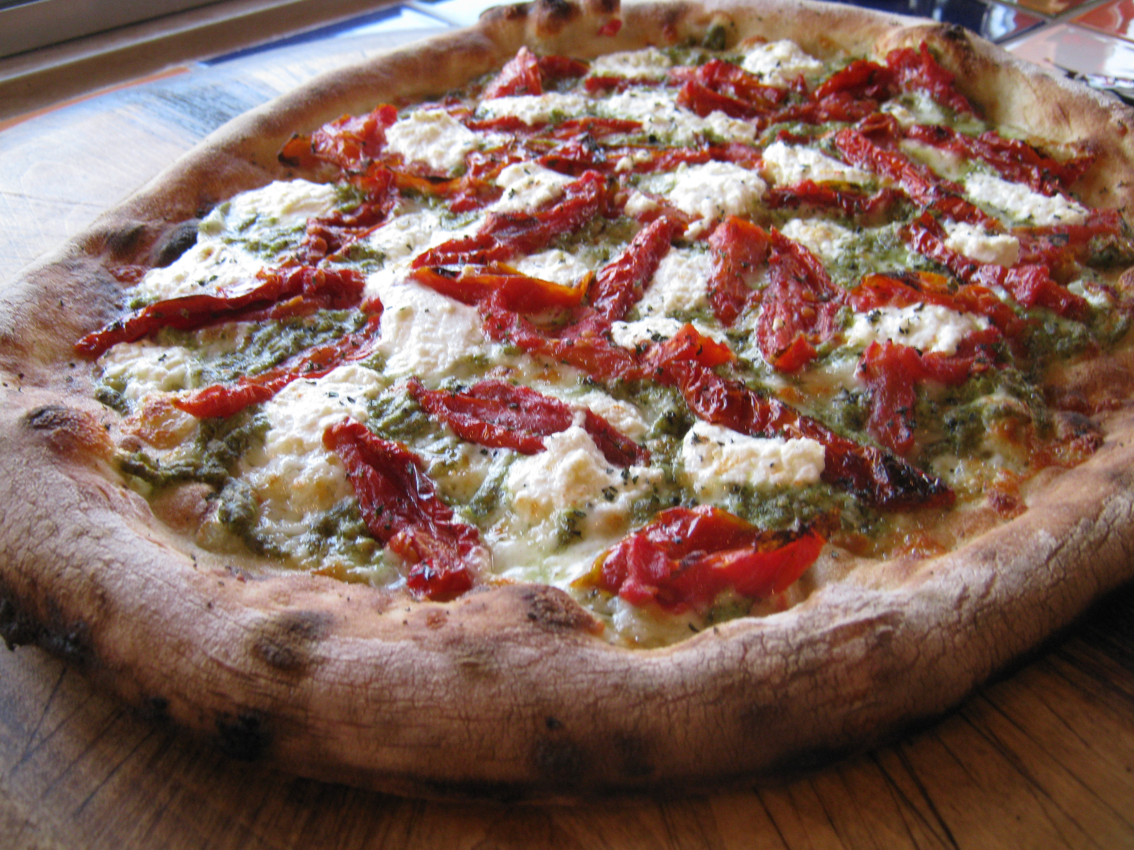 Indian Paintbrush Pizza is made with cilantro pesto, ricotta, and semi dried tomatoes. I addition to pizza, Wy'east will offer salads, appetizers and dessert, along with seasonal beers.