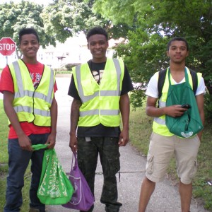 Green Committee members conducted outreach with City of Milwaukee Earn & Learn Interns in Riverwest.